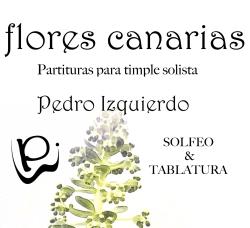 flores canarias partituras para timple solista Pedro Izquierdo