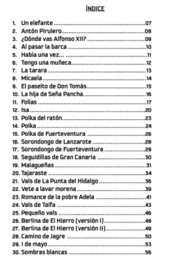 índice partituras para timple