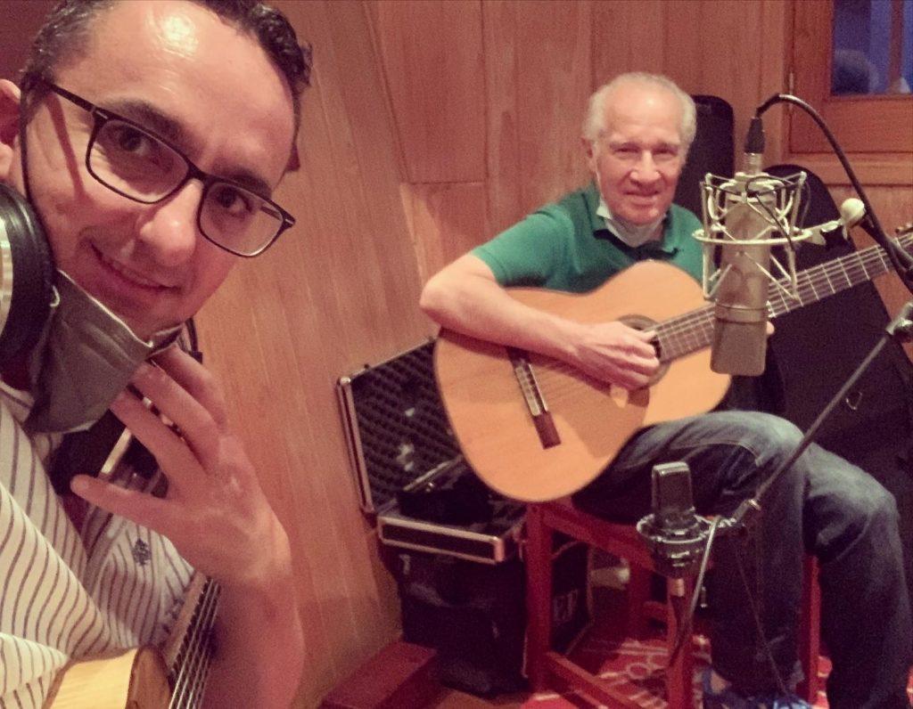 Grabando con mi querido amigo y maestro Carlos Mozzi